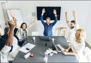 Happy sales people get results